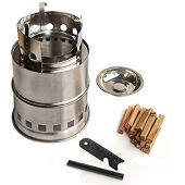 Kaeser Wilderness Supply Wood Burning Compact Portable Stove Camping Survival Backpacking Survival Emergency