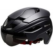 GIEADUN Bicycle Helmet Men and Women MTB Cycling Helmet cpsc Certification with Removable Lens resizable