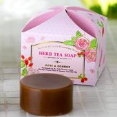 """Skin Growing """"Herbal Tea Soap"""" """"Rose & Rose Hips"""" 3.4 oz (100 g) Plenty of Sizes, Contains 40% Herbal Tea, Aged for 100 Days, Made in Japan, High Quality Additive-Free, Handmade Herb Soap, Sig"""