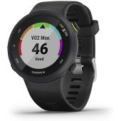 Garmin Forerunner 45S, 39mm Easy-to-use GPS Running Watch with Coach Free Training Plan Support, Black