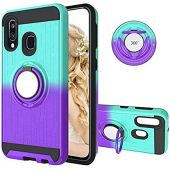 Compatible with Moto G7 Play Case USA Version, G7 Optimo Cover 360 Degree Rotating Ring Holder Kickstand Armor Heavy Duty Shockproof Hybrid Bumper Dual Layer Bracket Protection Fit Magnetic Car Mount