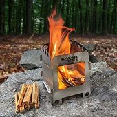 Wood Burning Folding Stove Lightweight Camping Survival Backpacking Emergency