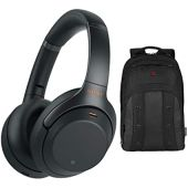 Sony WH-1000XM3 Wireless Headphones (Black) and Backpack
