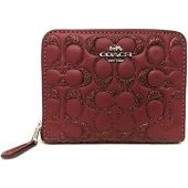 Coach Boxed Glitter Signature Leather Small Zip Around Wallet