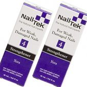 Nail Tek Xtra 4, Nail Strengthener for Weak and Damaged Nails, Prevent Nails From Peeling, Cracked, and Brittle Nails, 0.5 oz, 2-Pack