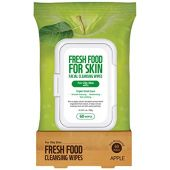 FARMSKIN FARMSKIN Fresh Food, Skin Care, Makeup Remover, Cleansing Sheet, Facial Wash Sheet, Daily Remover, Cleansing Wipes, Apple (Pack of 60)