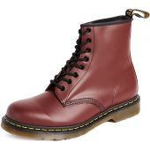 Dr. Martens, 1460 Original 8-Eye Leather Boot for Men and Women, Cherry Red Smooth, 8 US Women/7 US Men