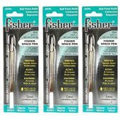Fisher Space Pen - 3 Pressurized Cartridges Turquoise Ink Medium Point #SPR9