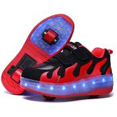 AIkuass Roller Shoes for Girls Boys Adult LED Blinking Sneakers As Daily Gift