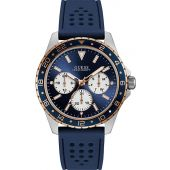 Guess Men's Analogue Quartz Watch with Silicone Strap W1108G4