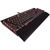 CORSAIR K70 RAPIDFIRE Mechanical Gaming Keyboard - Backlit Red LED - USB Passthrough & Media Controls - Fastest & Linear - Cherry MX Speed,CH-9101024-NA
