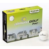 ALMOSTGOLF Point3 Limited Flight Practice Golf Balls  Realistic Spin, Trajectory, & Accuracy Foam Training Balls Pack of 10
