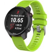 ISABAKE Watch Band for Garmin Forerunner 245/245 Music/Forerunner 645/645 Music,Compatible with Garmin Vivoactive 3 /Venu Sq/Vivomove HR,20mm Soft Silicone Replacement Wristbands (Green)