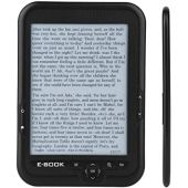 6'' Portable E-paper with 800x600 Resolution+Audio Player, E-reader E-book Reader with Electronic ink screen Available in 29 languages with A pair of headphone and Leather Case, 16/8/4GB(Black 8G)