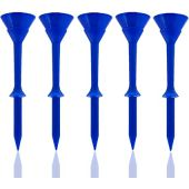 FINGER TEN Golf Tees 3 1/4 Inch Unbreakable Plastic Cup Tee Bulk Value 12/24/60 Pack, Pro Upgrade Step Up Long 83mm Colored Set