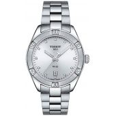 Tissot Ladies PR 100 Watch 36mm Stainless Steel 12 Diamonds T101.910.11.036.00
