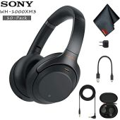 Sony WH-1000XM3 Wireless Noise-Canceling Over-Ear Headphones (Black) - Includes - 10 Pack