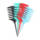 Zyyini Hair Highlight Sectioning Comb, 3 Pcs Professional Styling Hair Dyeing Combs Plastic Weaving Combs for Women Styling
