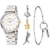 COACH Delancey 36mm Gift Set - 14000056 Silver White One Size