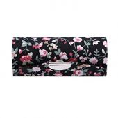 YouCY Lipstick Box, Lipstick Case with Mirror, Lipstick Case Holder with Flower Vine Pattern For Women Girl,Black Rattan Box