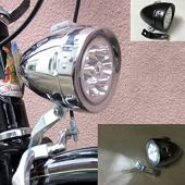 GOODKSSOP Bright 6 LED Metal Shell Front Light for Bicycle Headlight Retro Bike Head Lamp Classical Vintage Night Riding Safety Cycling Fog Light Headlamp with Bracket