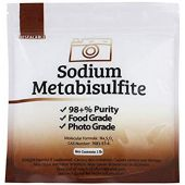 Duda Energy meta01 Sodium Metabisulfite Food Grade/Photo Grade 98.6+% Purity White Granular Solid Crystals, 1 lb.