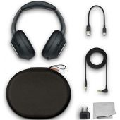 Sony WH-1000XM3 Wireless Noise-Canceling Over-Ear Headphones (Black) with Carry Case and in-Flight Adapter