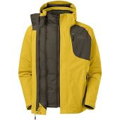 The North Face Men's Carto Triclimate Jacket Sulphur Yellow/Black Ink Green XX-Large