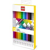 LEGO Stationery - Colored Gel Pens 12 Pack with Building Bricks - .7mm