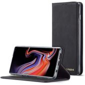 DEFBSC Samsung Galaxy S10 Flip Wallet Case with Kickstand Card Slots,Magnetic Closure Shockproof PU Leather Folio Flip Case for Samsung Galaxy S10(Black) (Black)