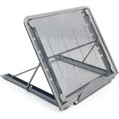 Laptop Riser Stand Ventilated Adjustable Desk Tablet PC Support for Pad Phone Steel Mesh Stand , 9.5 x 7.5 x 0.5 Inches, Silver Gray