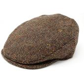 Hanna Hats Men Donegal Tweed Vintage Flat Driving Cap Made in Ireland 100% Wool