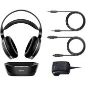 PHILIPS Digital Wireless Headphones for TV Watching, Over Ear Stereo Headset, High Resolution Home Cinema Sound Audio, 2.4GHz RF Transmitter, Wired Connection with Charging Dock