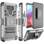 LG G6 Case, LG G6 Holsters Clips Case, Jeylly [Belt Clip] Built-in Kickstand [Gray] Heavy Duty Full Body Shock Absorbing Hard Rugged Case Shield for LG G6 LG G6 H871 H782 US997 VS988