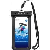 MoKo Floating Waterproof Phone Pouch, Floatable Phone Case Dry Bag with Lanyard Armband Compatible with iPhone 12/12 Mini/12 Pro, iPhone 11/11 Pro, X/Xs/Xr/Xs Max,8/7, Samsung S10/S9/S8, A10E, Note 10