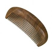 ERZA SCARLET Real Natural Green Sandalwood Wooden Comb/Boutique Hair/Beard Pick Comb - NO SNAGS,NO STATIC,NO TANGLE (Standard tooth)