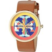 Tory Burch Reva Leather Watch Brown - Tbw4040 One Size