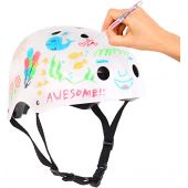 Crayola Kids Bike Helmet For Bike Scooter Skate, Dry Erase Surface, Markers Included, CPSC ASTM Certified, 11 Vents For Multi-sports Bike Scooter Roller Skate, Shock Absorbent EPS Inner Shell. Ages 5+