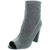 ALDO Womens Loviradda-81 Open Toe Ankle Fashion Boots, Silver, Size 7.0