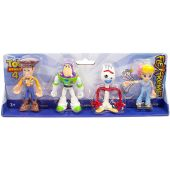 Disney Toy Story 4 Flextreme Bendable Figure Set Woody Buzz Forky Bo Peep