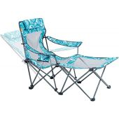Portable Camping Chair with Footrest Mesh Folding Reclining Chair for Adults 300lb