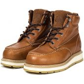 ROCKROOSTER Comfortable Work Boots Men, Composite Toe, Moc Toe Wedge Safety Water Resistant Leather Shoes for Electrician, Carpenter, Ironworker, Sheetmetal Worker constructions AP828