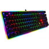 Rosewill Mechanical Gaming Keyboard, RGB LED Glow Backlit Computer Mechanical Switch Keyboard for PC, Laptop, Mac, Software Customizable - Professional Gaming Blue Mechanical Switch