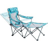 Camping Portable Chair with Footrest Mesh Folding Reclining Chair for Adults 300lb