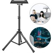 Neewer Deluxe 36.2-51.2 inches/92-130 centimeters Adjustable and Collapsible Heavy-Duty Laptop Stand with Solid Tripod Base and Non-slip Rubber Caps, Black