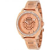 Coach Womens 14501701 Mini Boyfriend Rose Gold Tone Bracelet Watch