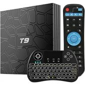 Smart TV Box, WISEWO T9 Android 8.1 TV Box with Wireless Mini Keyboard, 4GB/32GB Quad-core, Support 4K Full HD Wi-Fi 2.4Ghz BT 4.1 Android TV Player Media Box