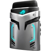 ASUS ROG Strix Magnus Microphone - Distortion-Free Sound with Noise Cancellation Technology | 3 Recording Modes | Easy-Access Controls | USB & Aux Input | Aura Sync Compatible | Compact & Portable