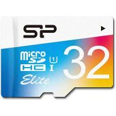 Silicon Power 32GB MicroSDHC UHS-1 Memory Card - with Adapter (SP032GBSTHBU1V20SP)