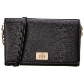 Tory Burch Womens Genuine Leather Eve Chain Wallet Bag